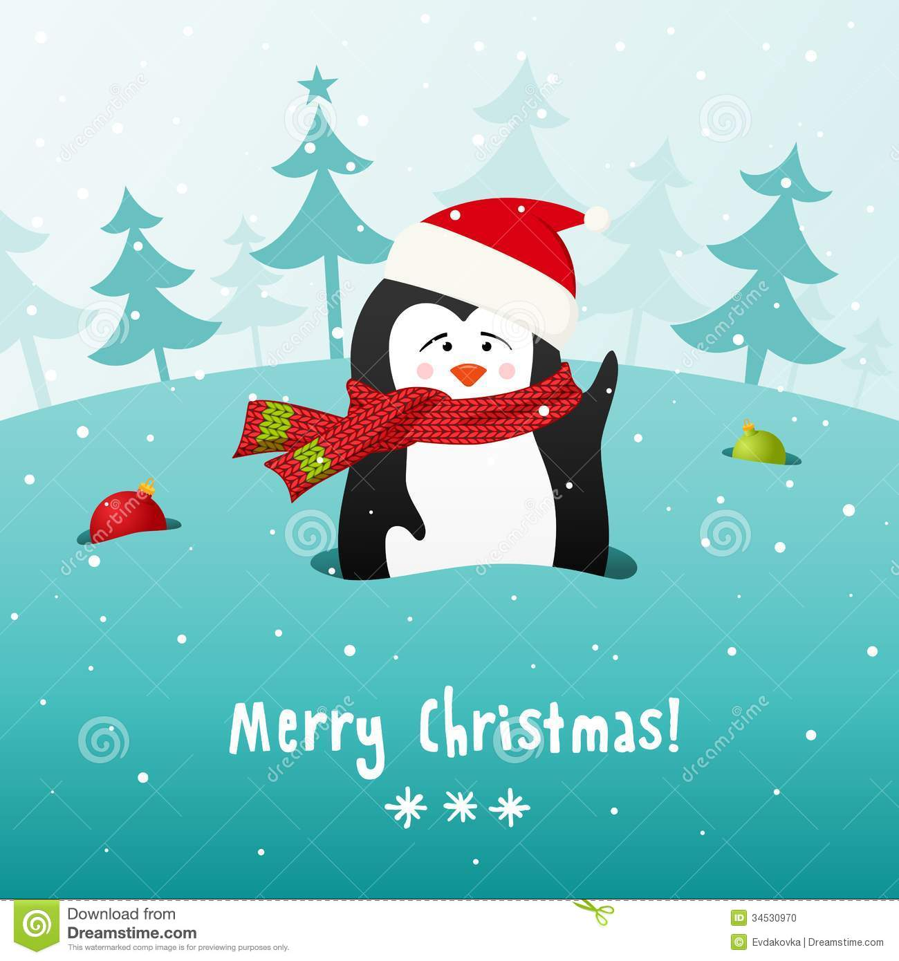 Penguin Background Vector Royalty Free Stock Photography Image Description Cute Christmas