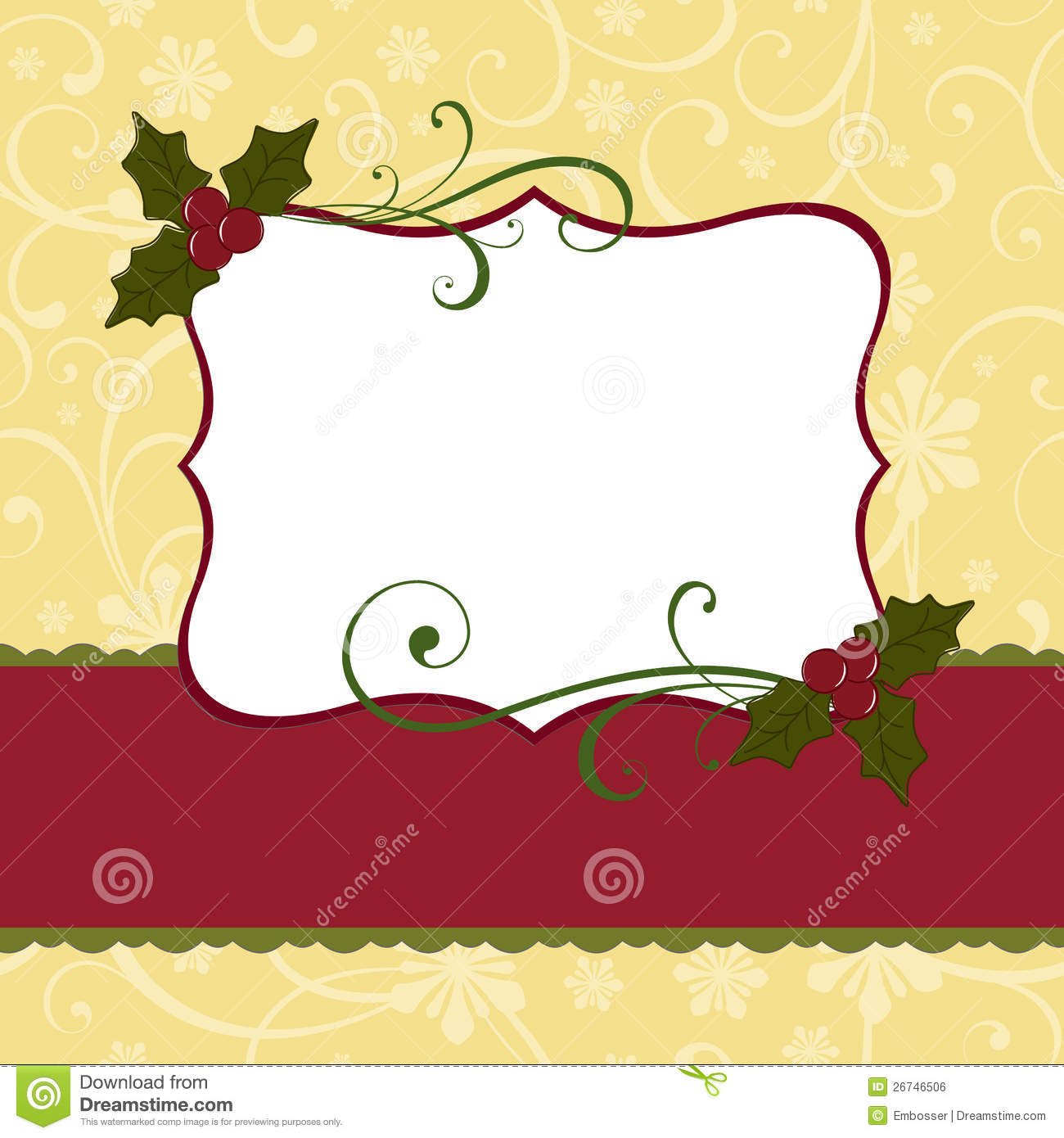 Cute Christmas Postcard Template Royalty Free Stock Image - Image ...