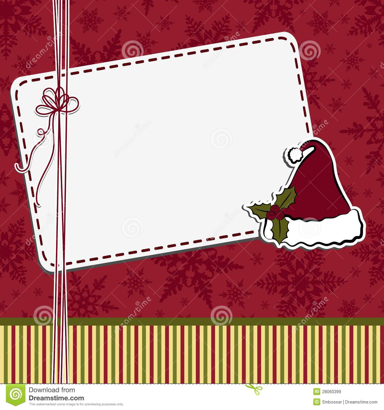 cute christmas postcard template royalty free stock images image 28060399. Black Bedroom Furniture Sets. Home Design Ideas