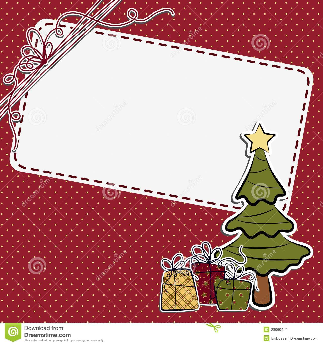 Cute Christmas Postcard Template Royalty Free Stock Photography ...