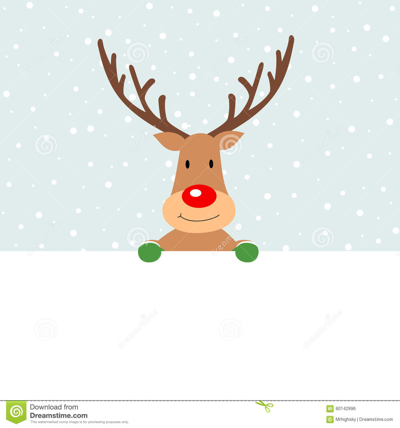 020bc8754127d Cute Christmas Reindeer Holding A Blank Banner Stock Vector ...