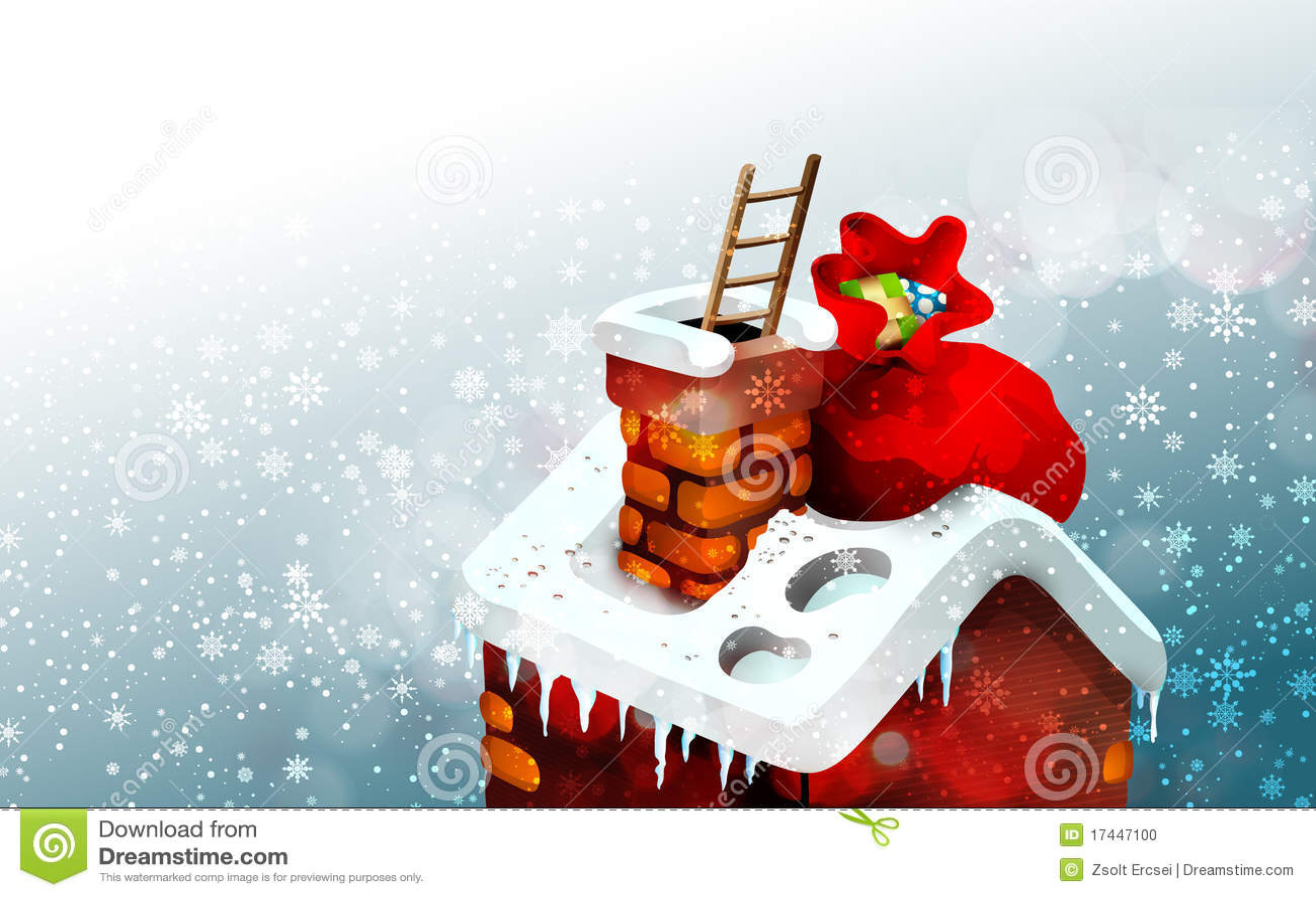 Cute Christmas Scene Illustration Stock Photo Image