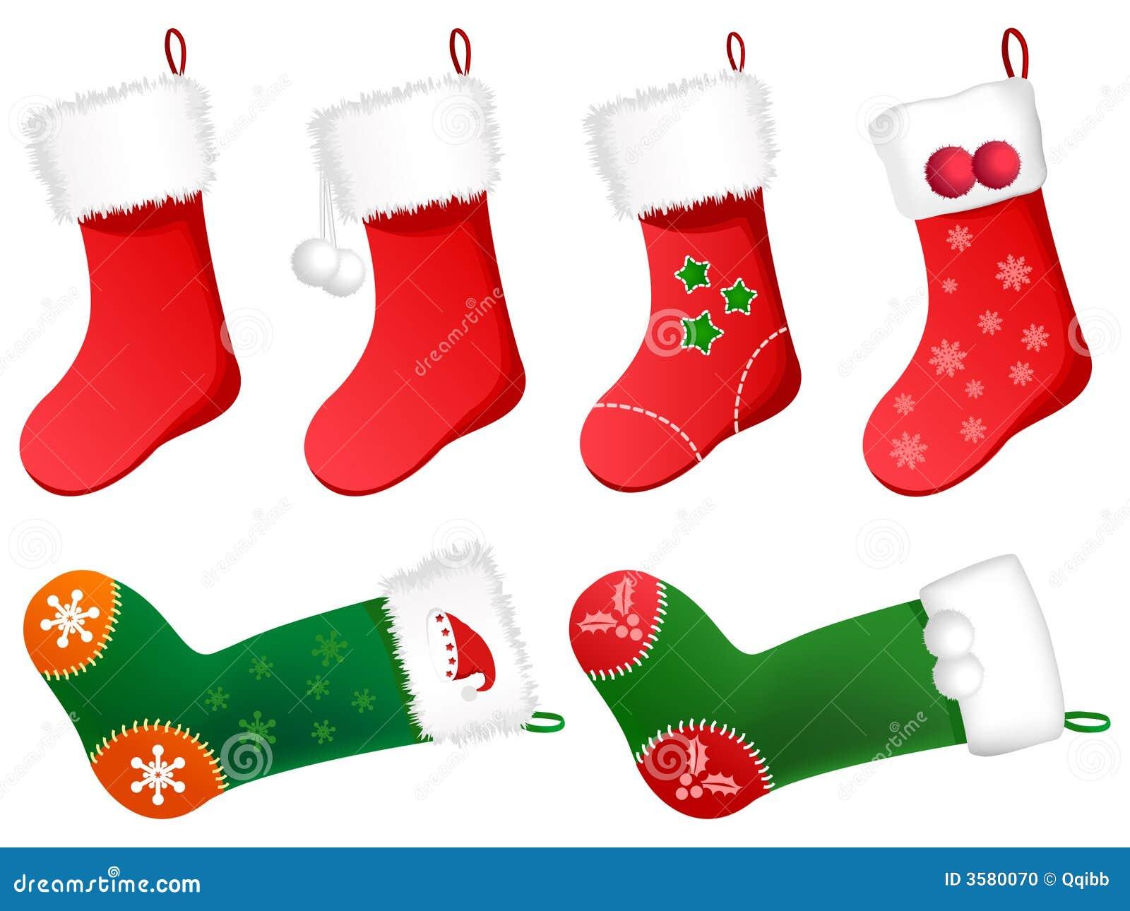 Cute Christmas Stockings Stock Photo - Image: 3580070