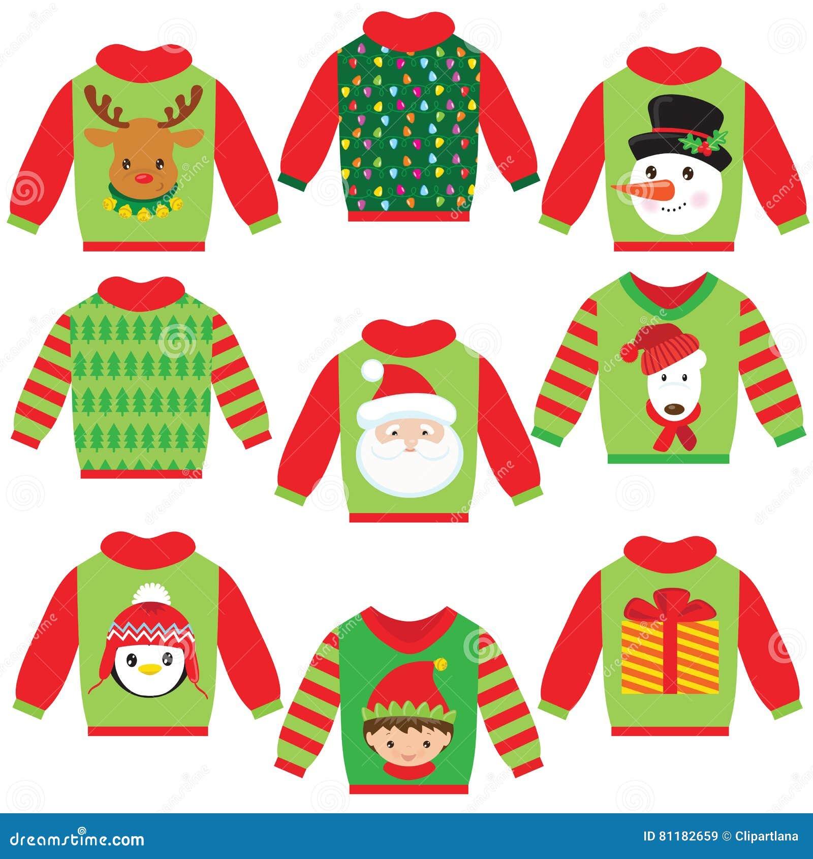 Cute Christmas Sweater Vector Illustration Stock Vector ...