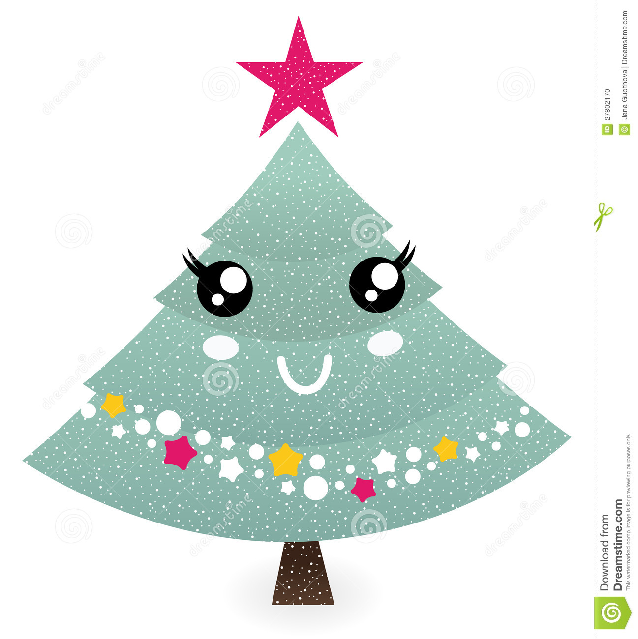 Awesome Cute Christmas Tree Character