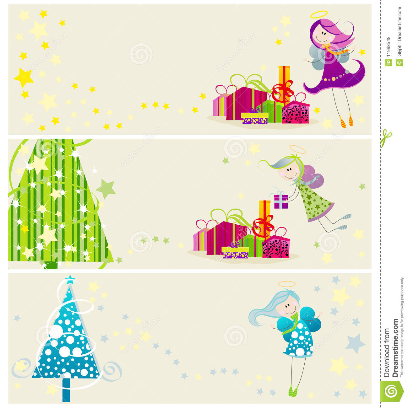 Cute Christmas Web Banners Royalty Free Stock Photos ...