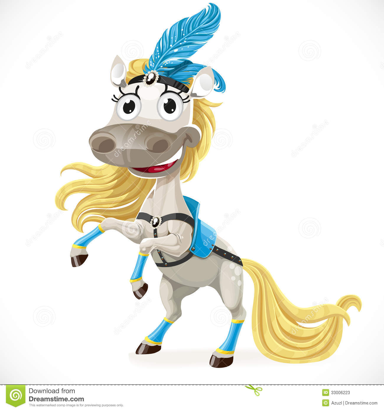 Cute Circus Horse On Hind Legs Stock Photos - Image: 33006223