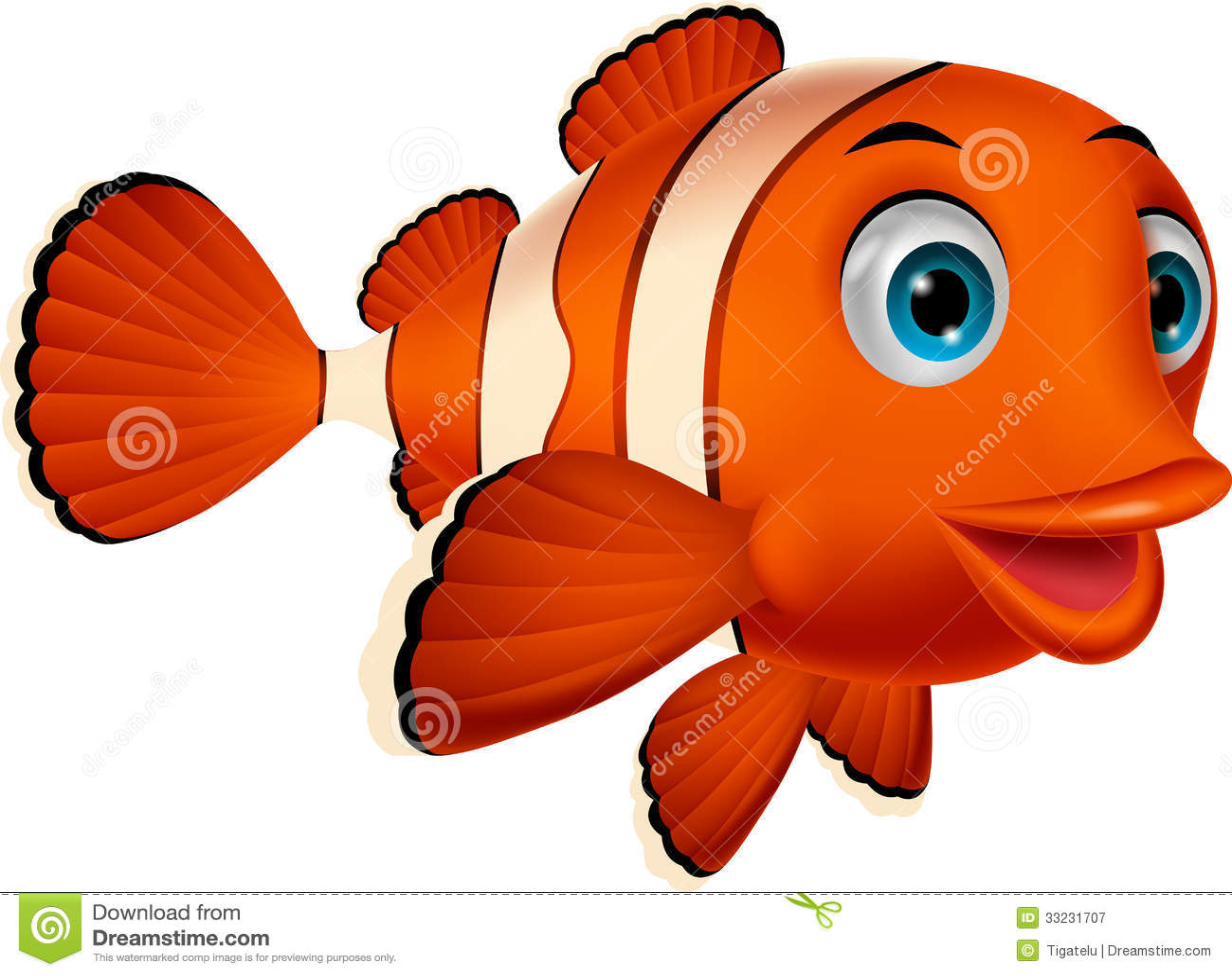 cute clown fish cartoon stock vector illustration of fish Seahorse Clip Art clown fish clip art printable free