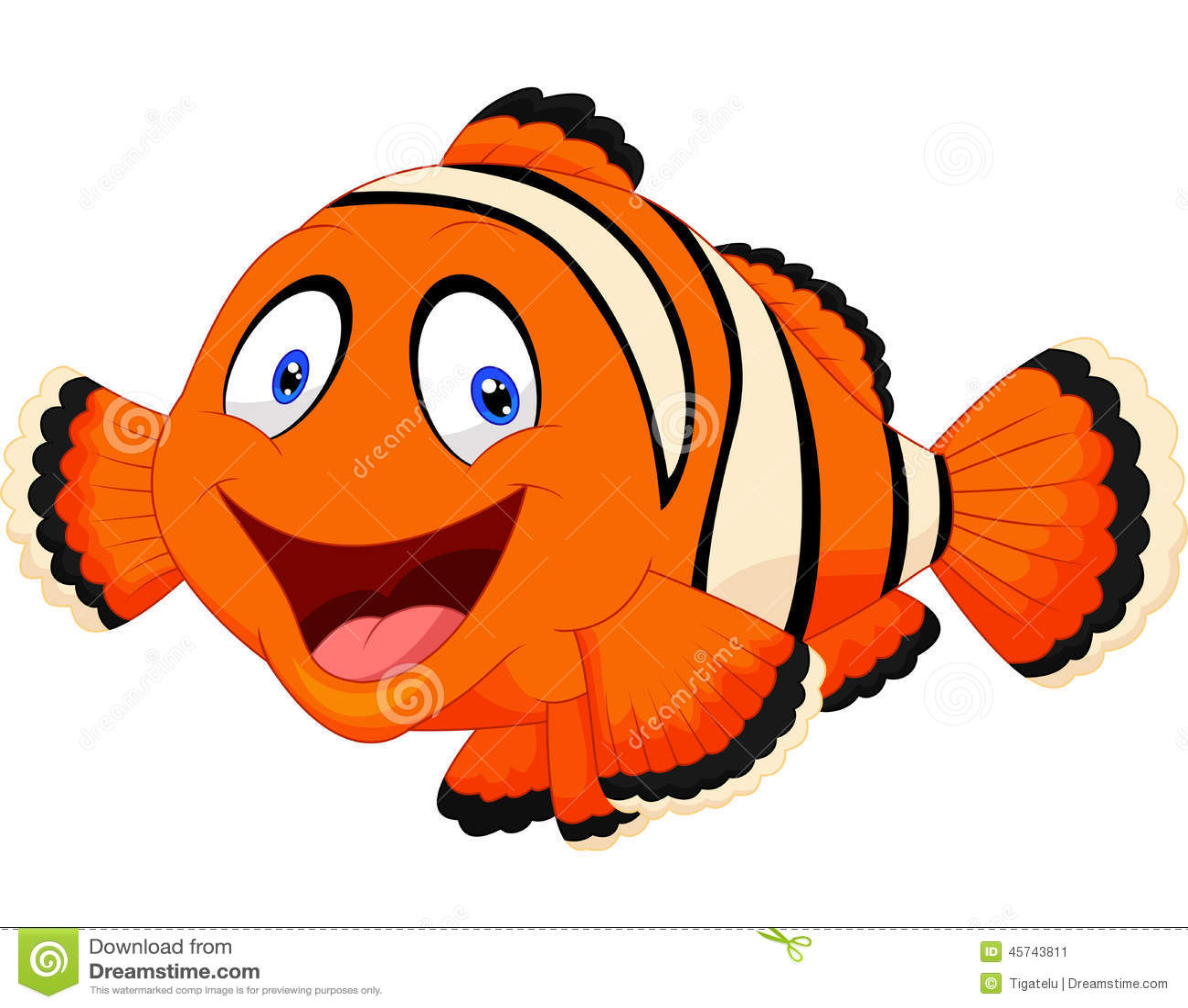cute clown fish cartoon stock vector illustration of wildlife