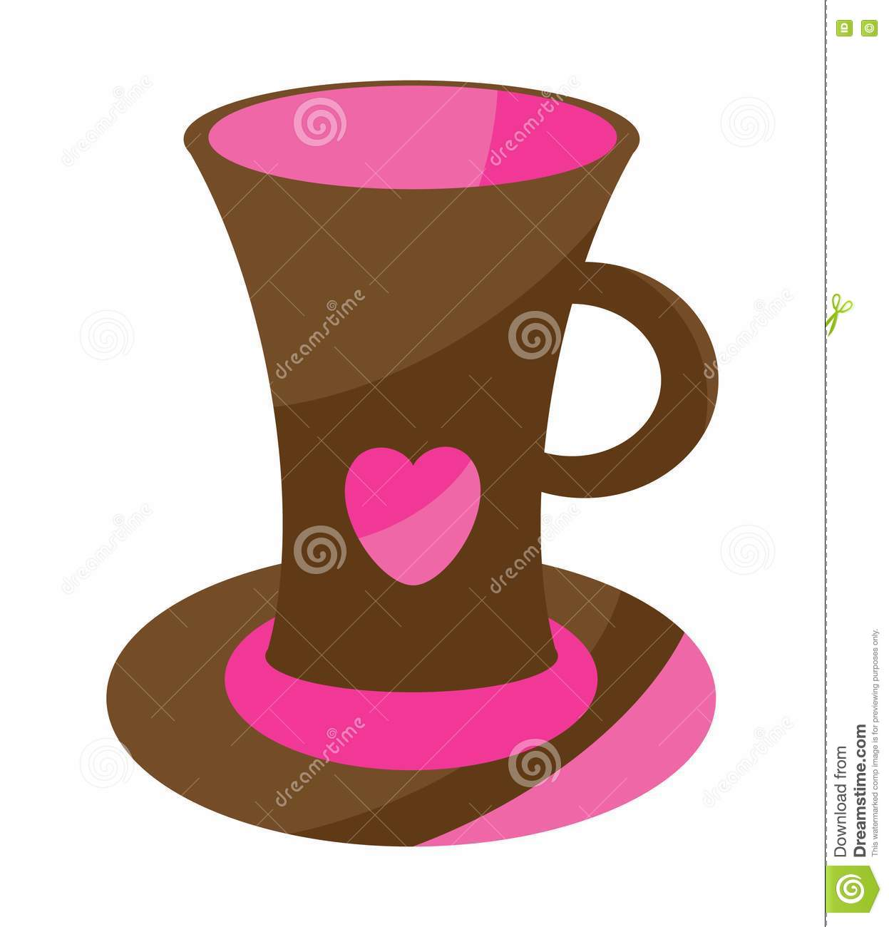 Cute Coffee Cup Stock Images Image 14244384