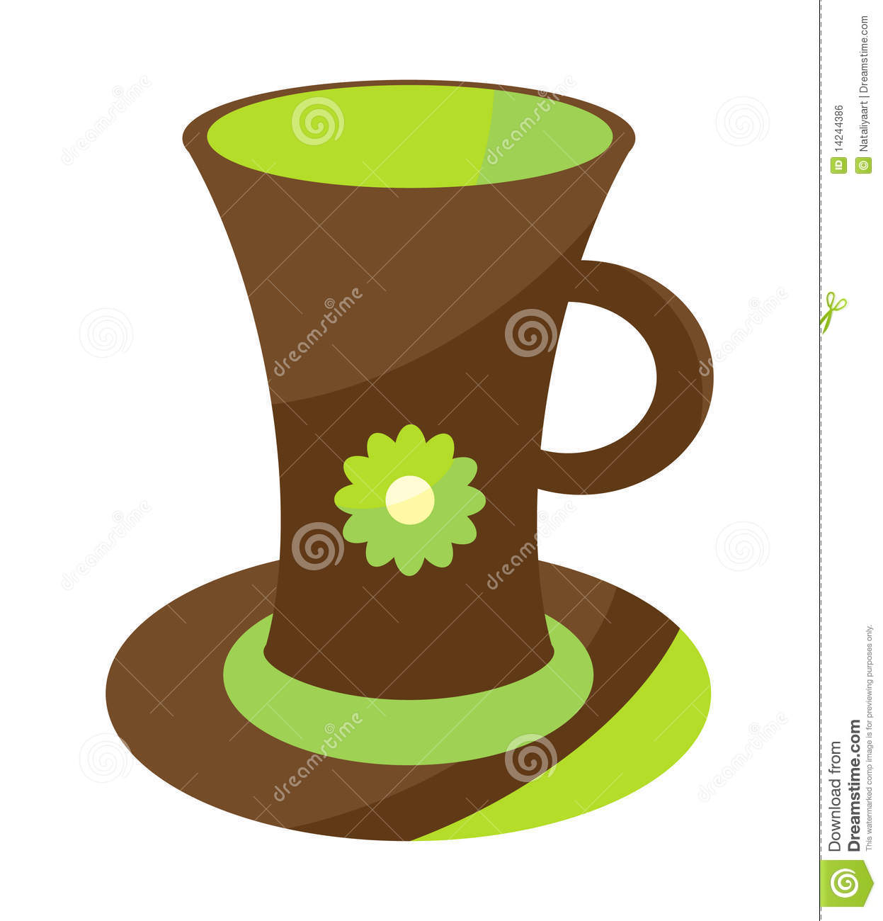 Cute Coffee Cup Royalty Free Stock Image Image 14244386