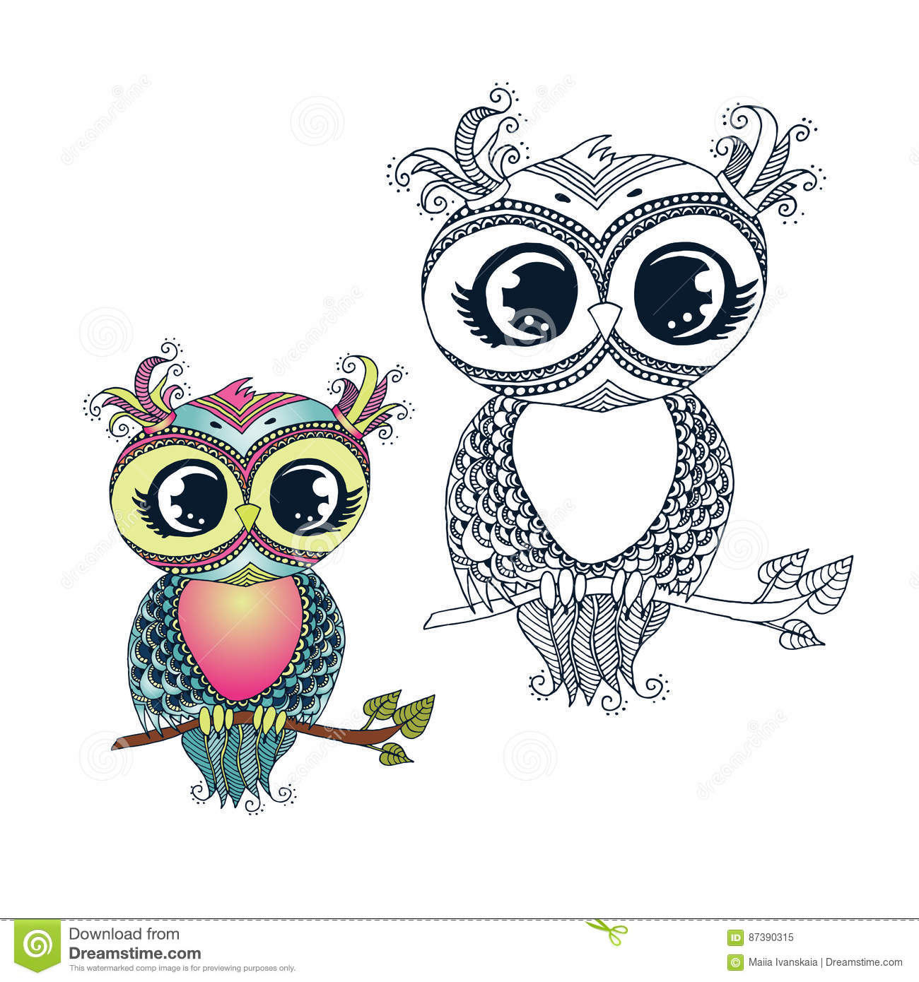colorful cute owl vector - photo #27
