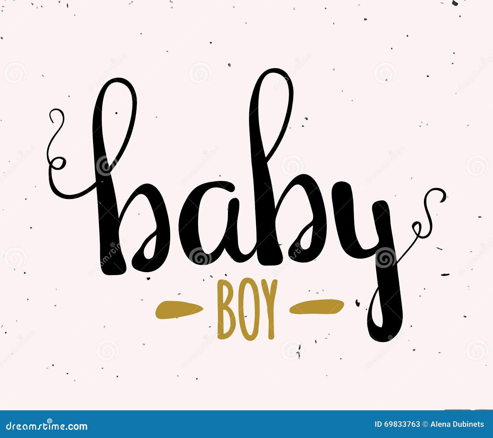 Illustration of cute baby boy vector
