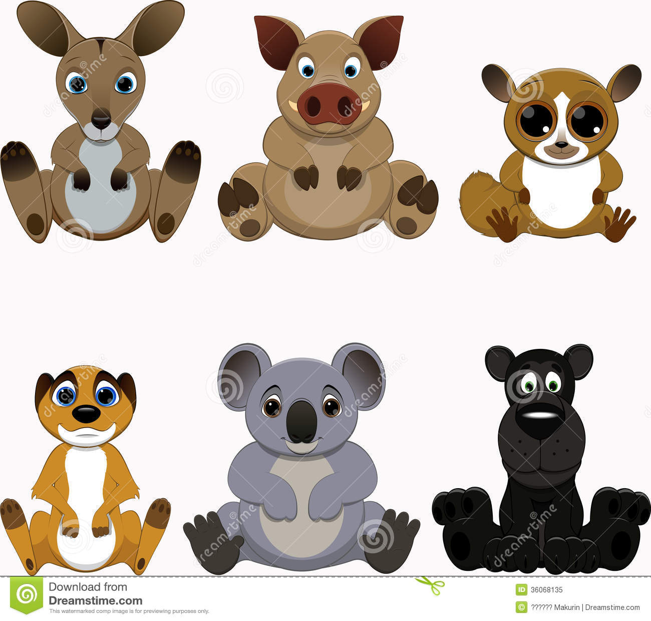cute colorful exotic animals collection royalty free stock meerkat clipart free Meerkat Vector