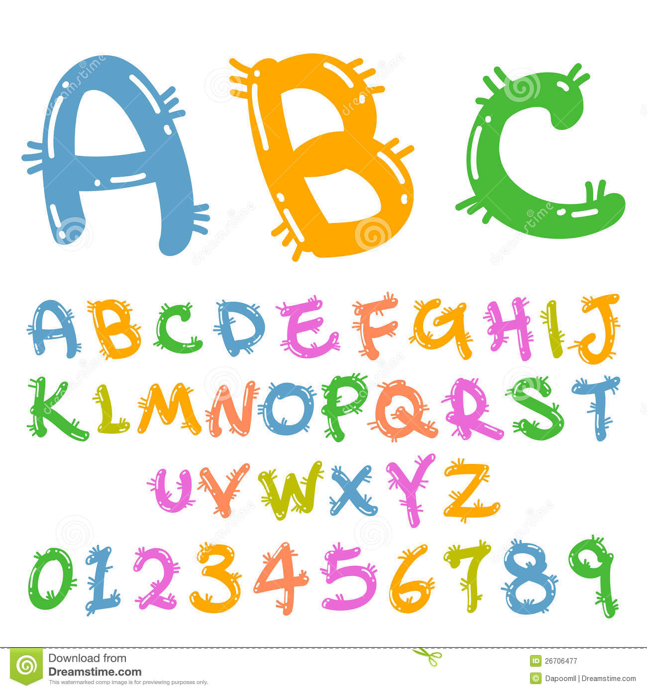 Cute Colorful Funny Font