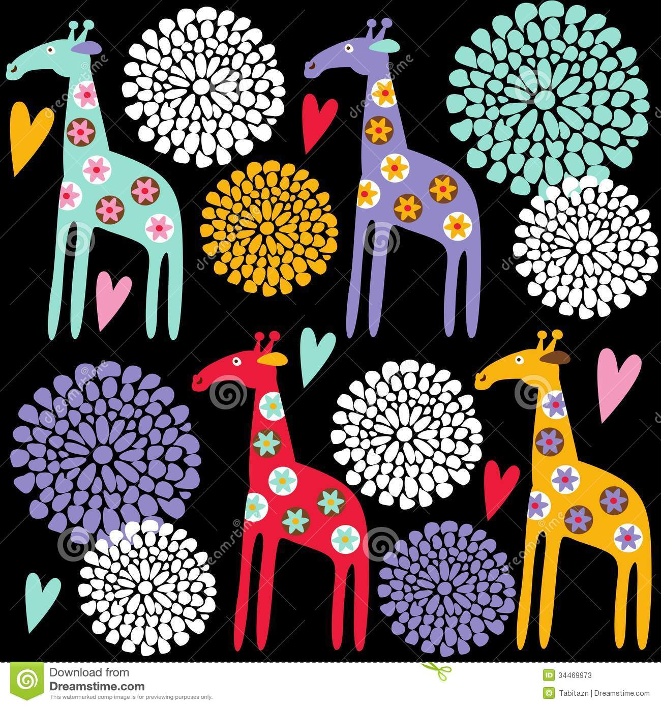 Cool Wallpaper Colorful Giraffe - cute-colorful-giraffe-seamless-pattern-flowers-illustration-background-hearts-fabric-34469973  2018_97142 .jpg