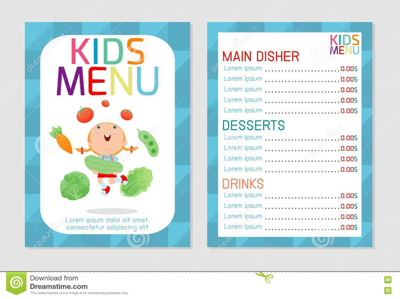 Sublet Agreement Definition Template Examples Cute Colorful Kids Meal Menu  Vector Template Kids Menu Cute Colorful  Menu Templates For Kids