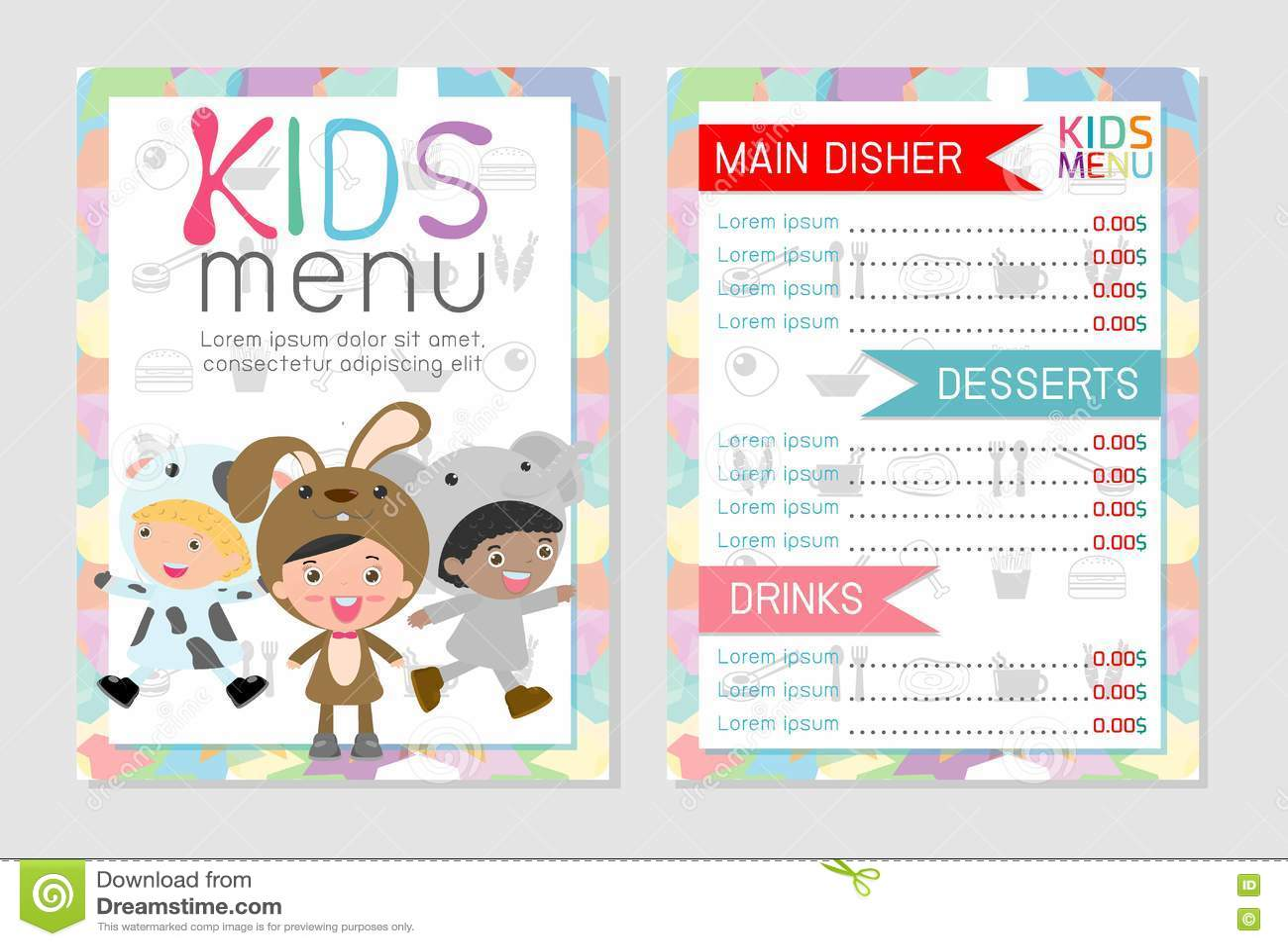 My Chosen Cafe Kids Menu