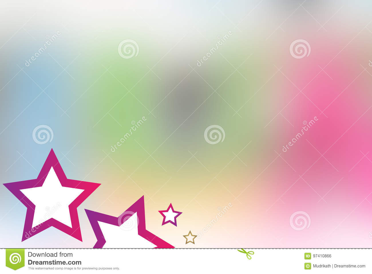 Cute Colorful PINK STAR Background for little Kids- 21 JULY 2017