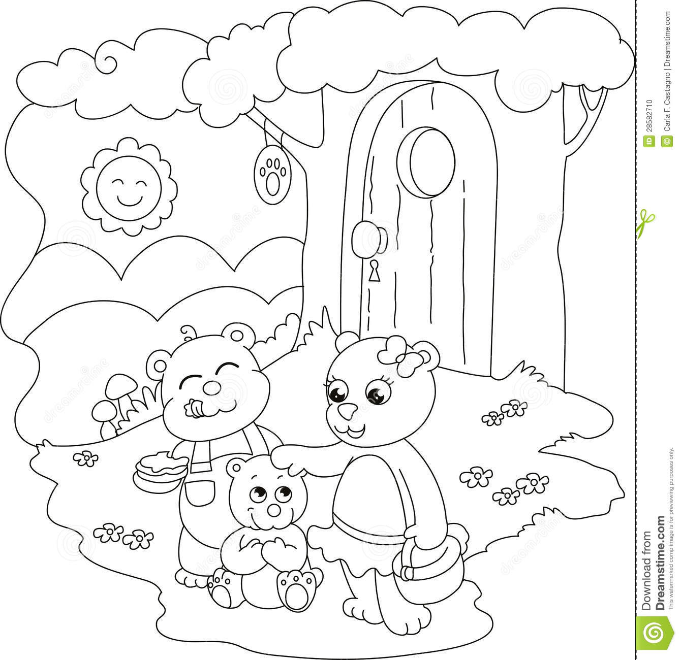 HD wallpapers three bears coloring page