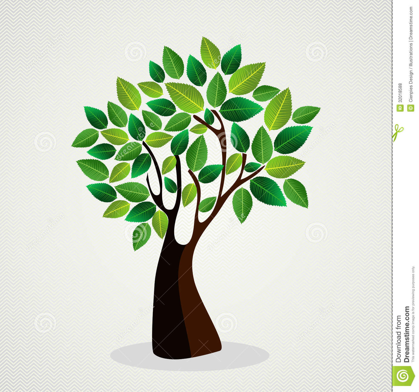 Cute Concept Tree Design Stock Vector. Image Of Leaf
