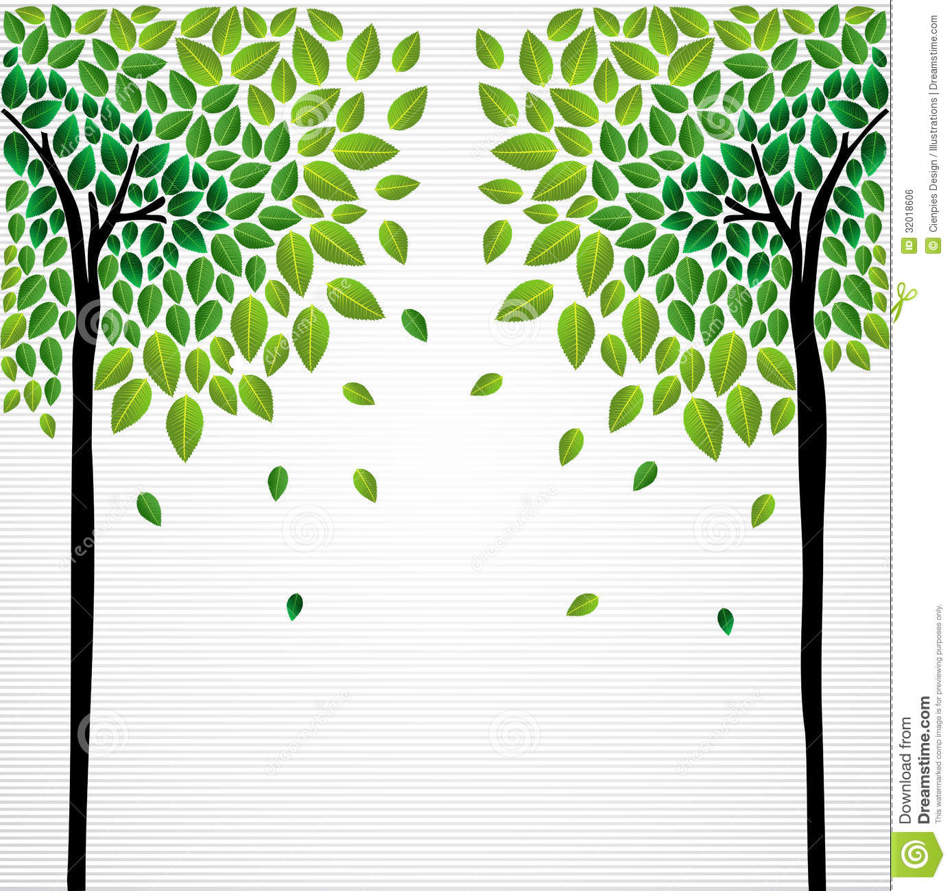 Cute concept trees drawing royalty free stock image for Green plans