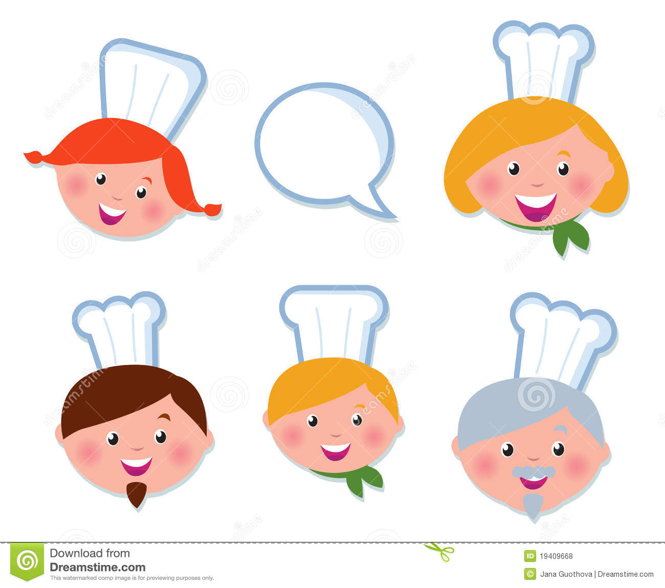 Cute cooking and icons set chef family royalty free stock photos image 19409668 - Stylish cooking ...