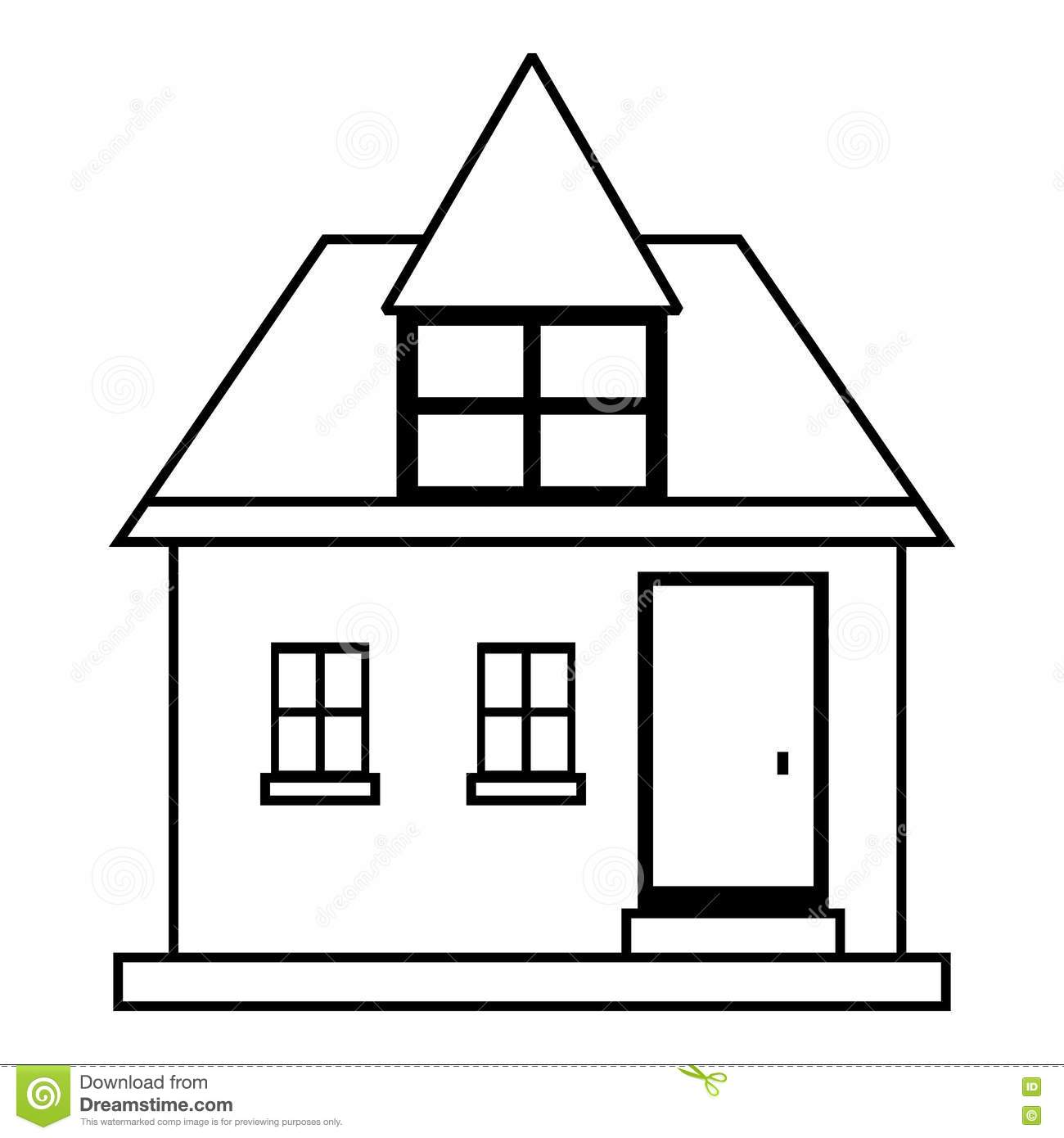 House outline picture - Royalty Free Vector