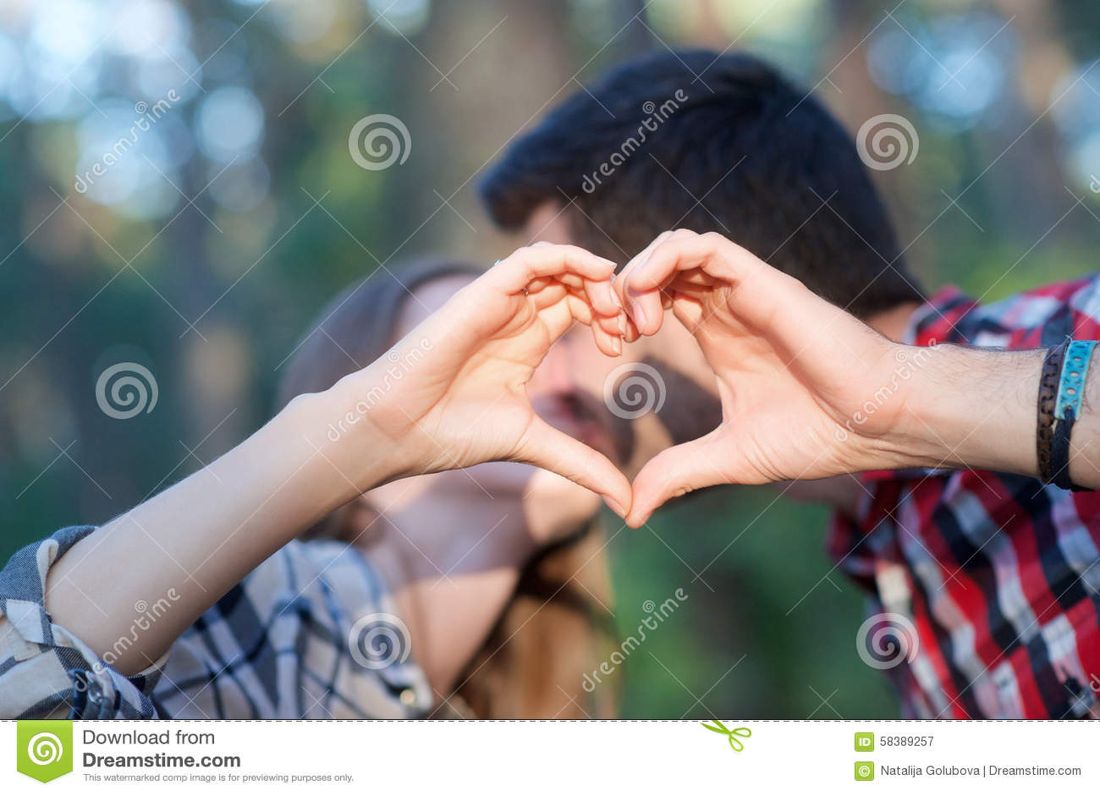 Cute Couple Stock Image Image Of Light Summer Shirt 58389257
