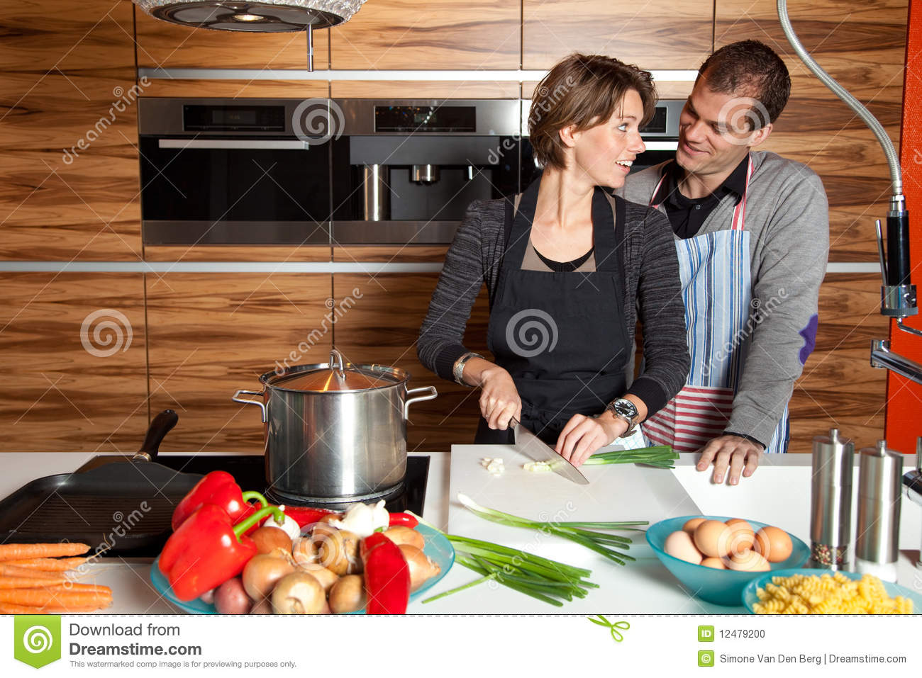 Cute couple in the kitchen