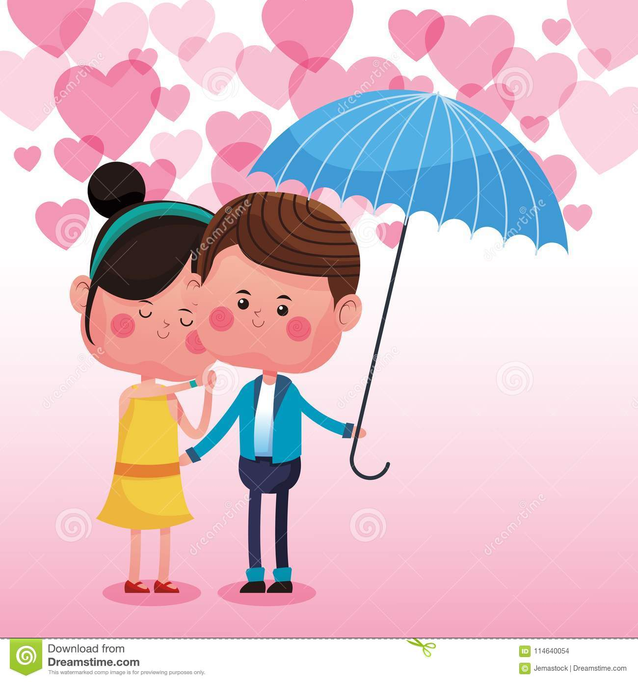 Cute Couple In Love Cartoons Stock Vector Illustration Of
