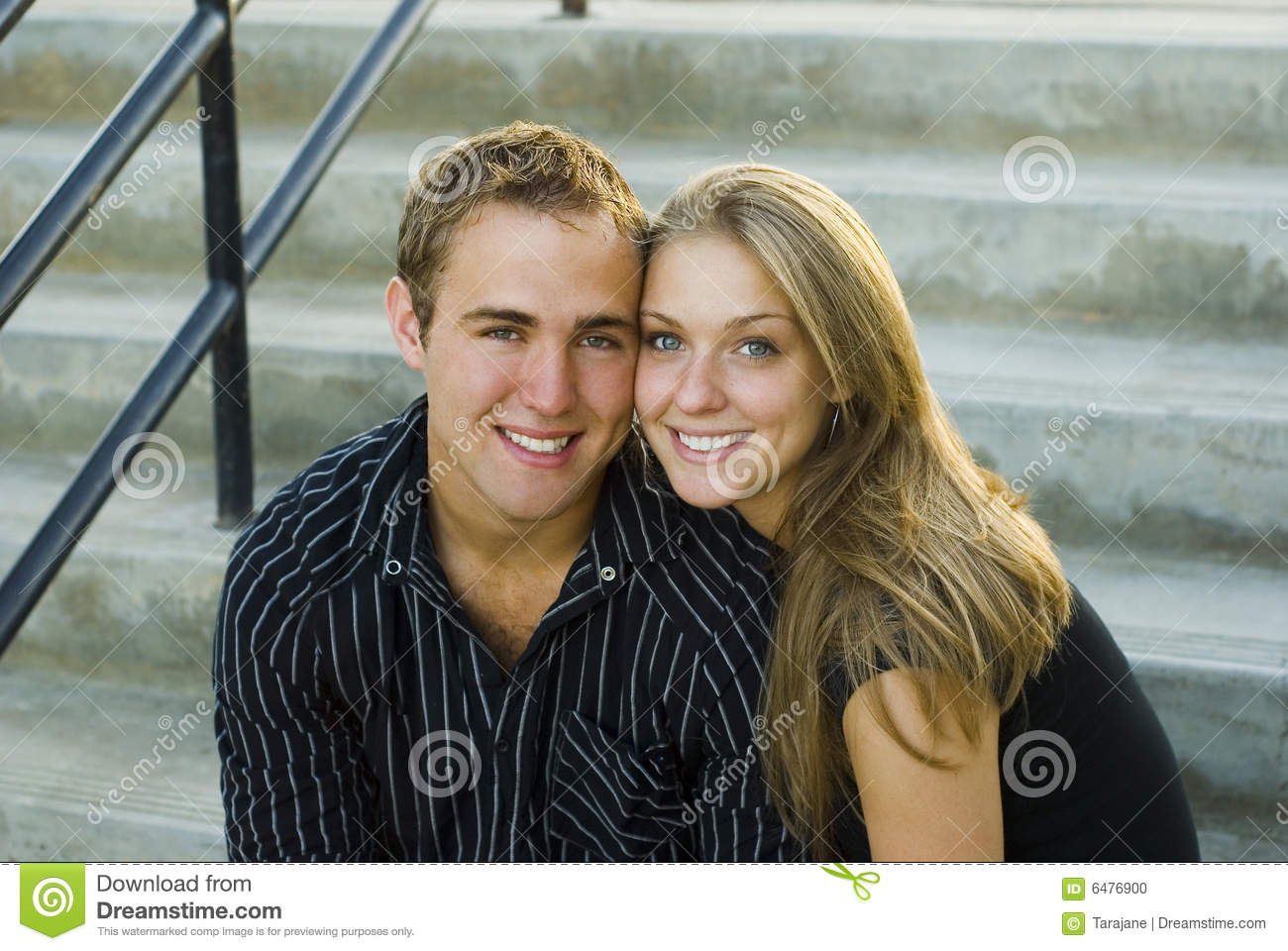 Cute Couple on the Stairs