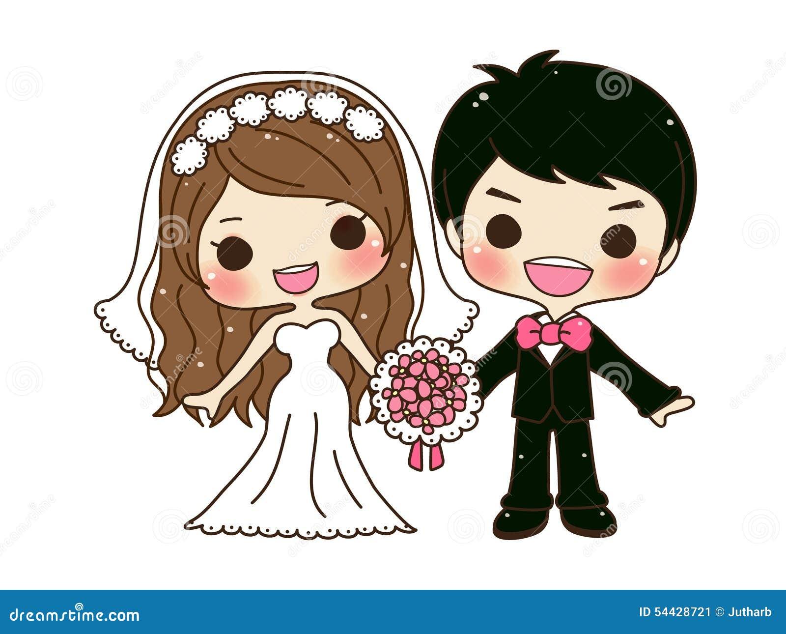 Cute couple wedding stock vector illustration of invitation 54428721 cute couple wedding junglespirit Choice Image