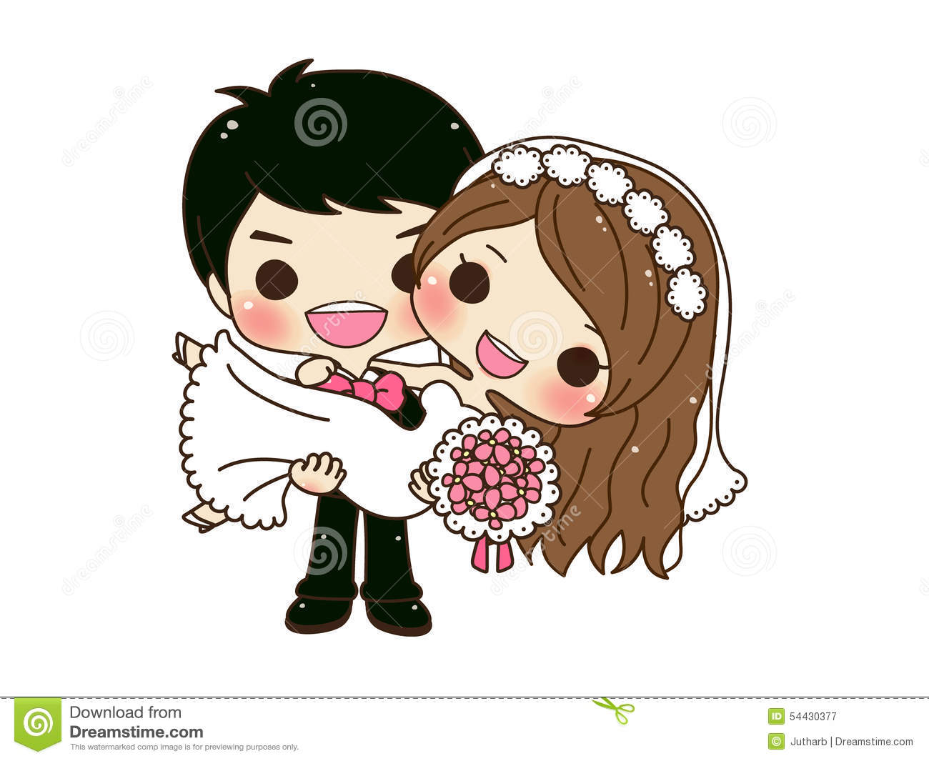 Seo HyeMin Cute-couple-wedding-cartoon-groom-carry-his-hands-54430377