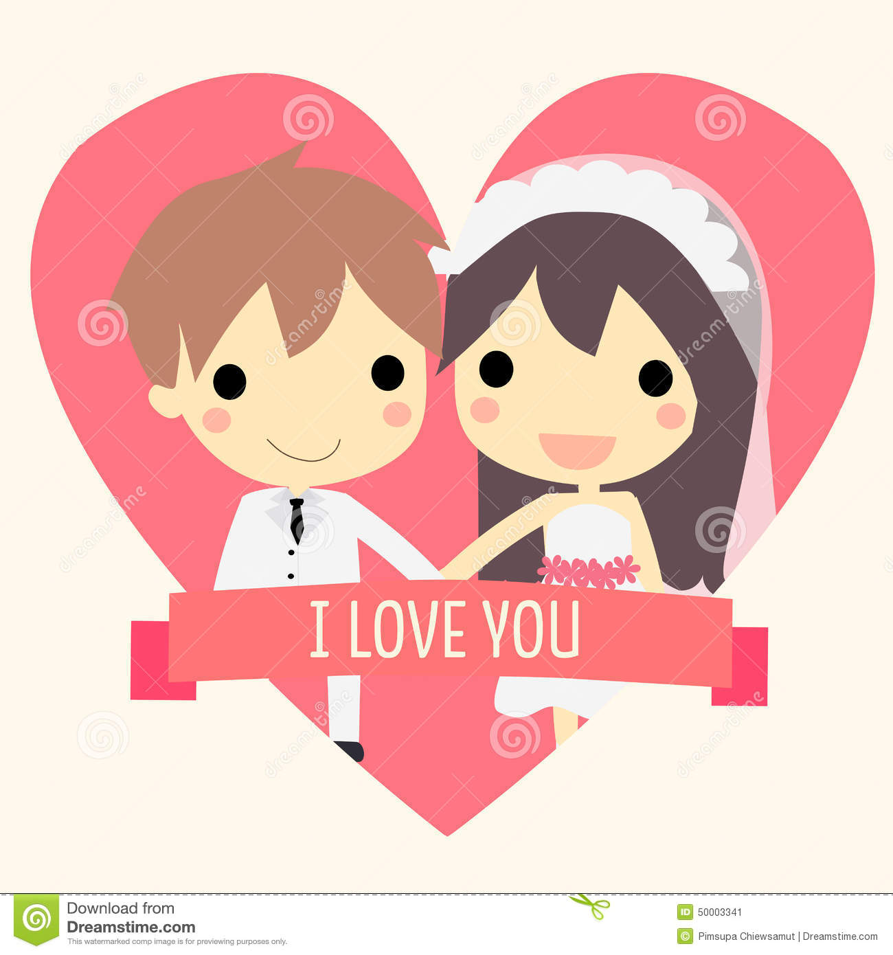 Cute couple widding.vector stock vector. Illustration of ...