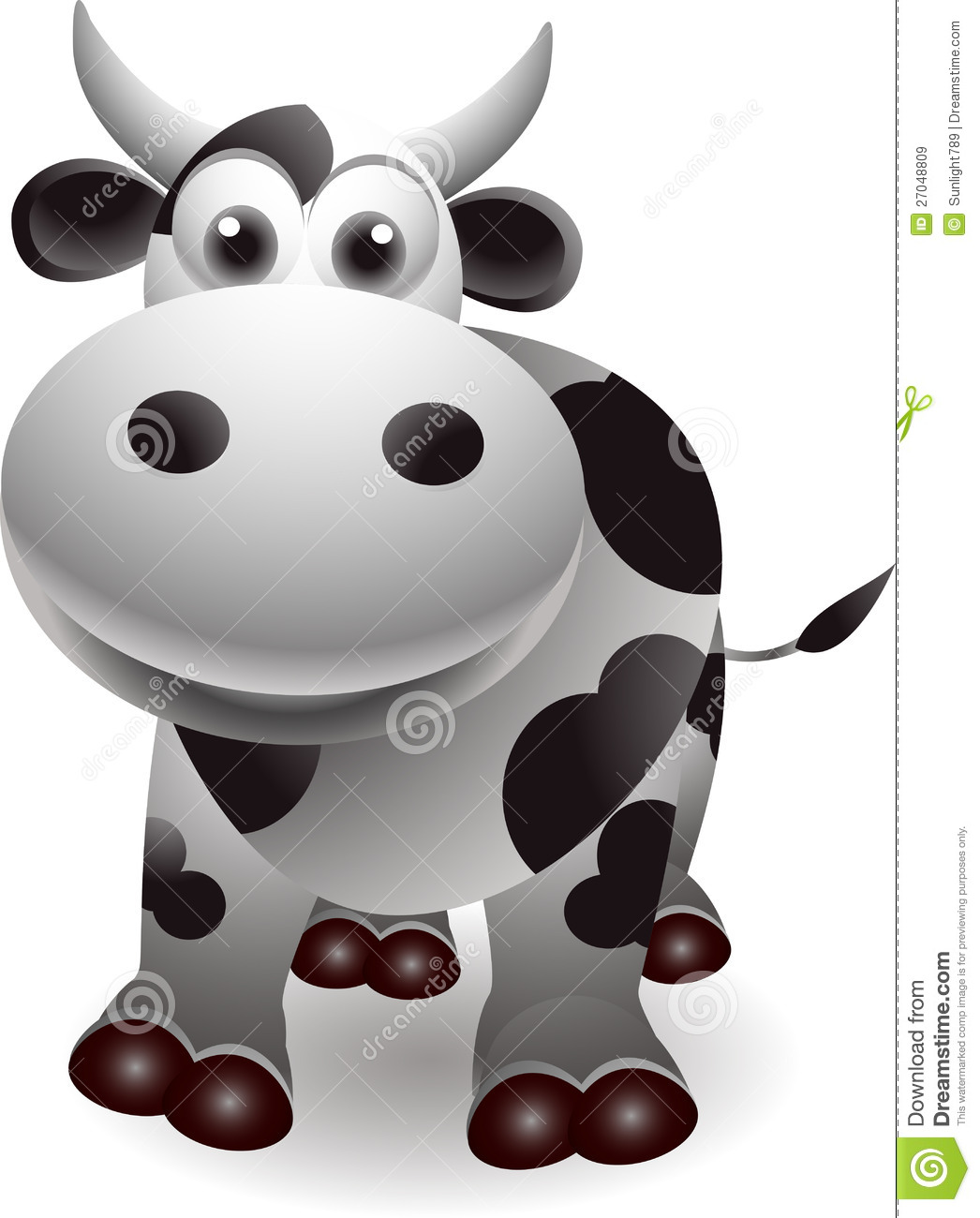 cute cow cartoon royalty free stock images image 27048809
