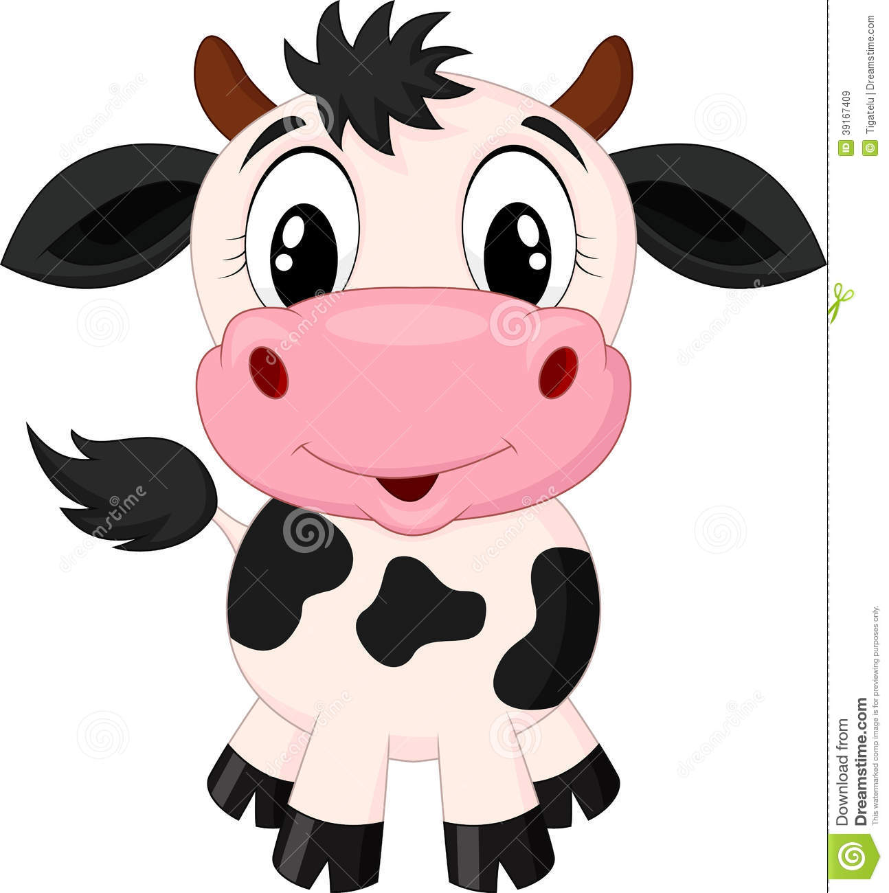 Cute cow cartoon stock vector. Illustration of dairy ...