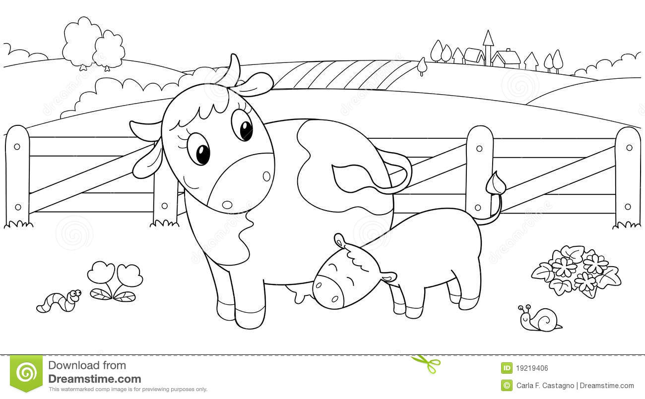 Free coloring page golden calf - Royalty Free Stock Photo