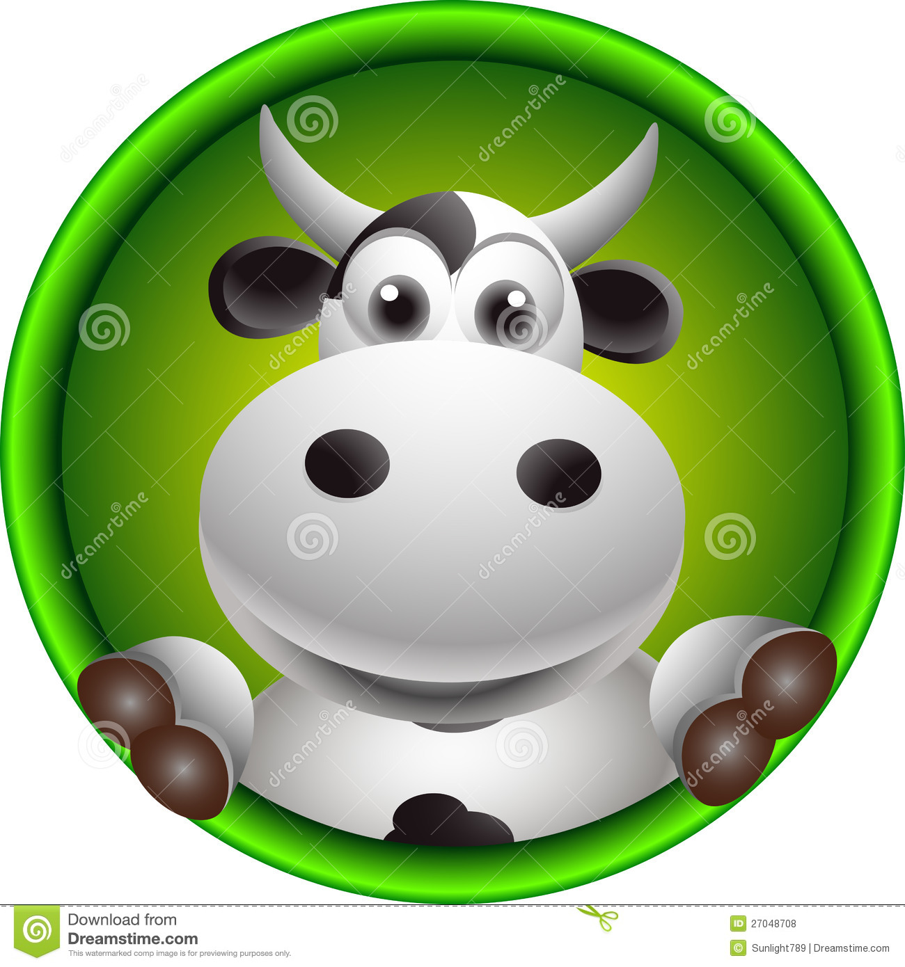 Cute Cow Head Cartoon Royalty Free Stock Photos - Image: 27048708