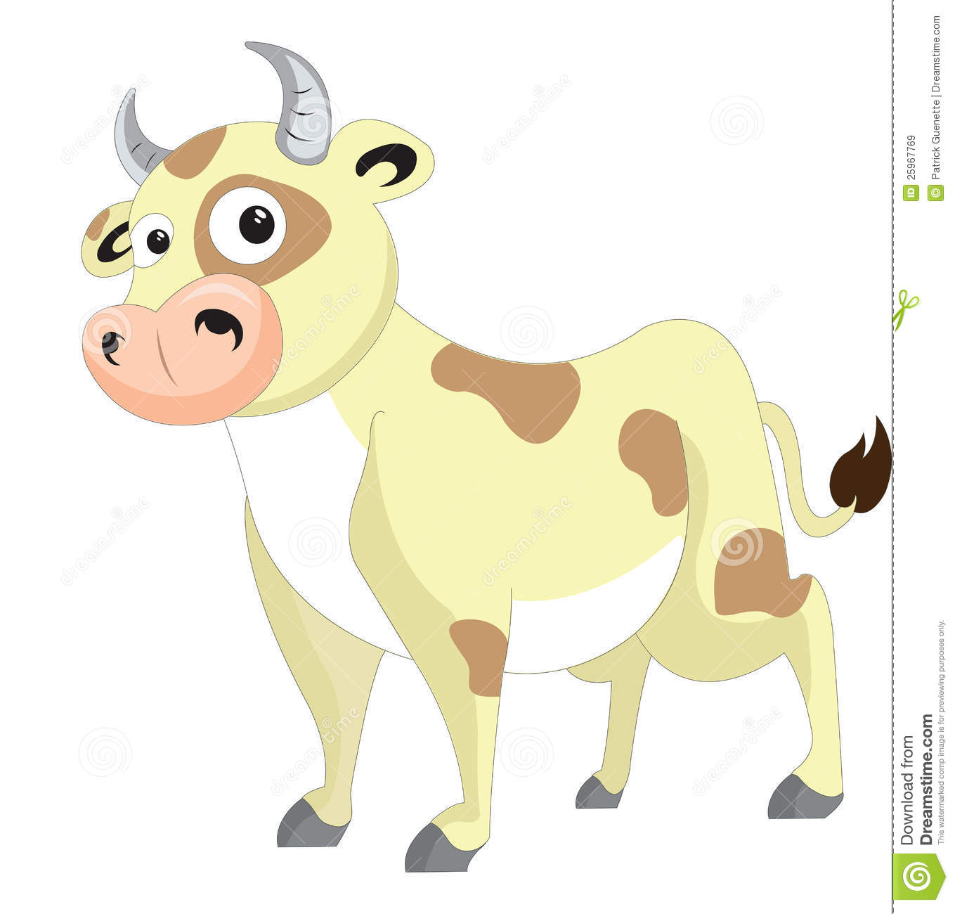 cute cow illustration royalty free stock images image
