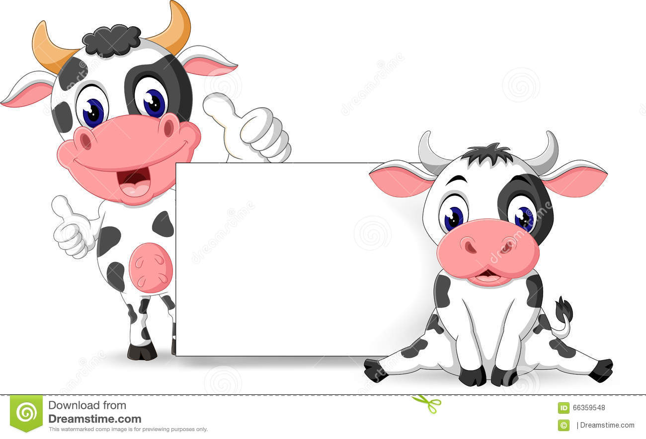 Cute cow stock vector. Illustration of livestock, horns ...
