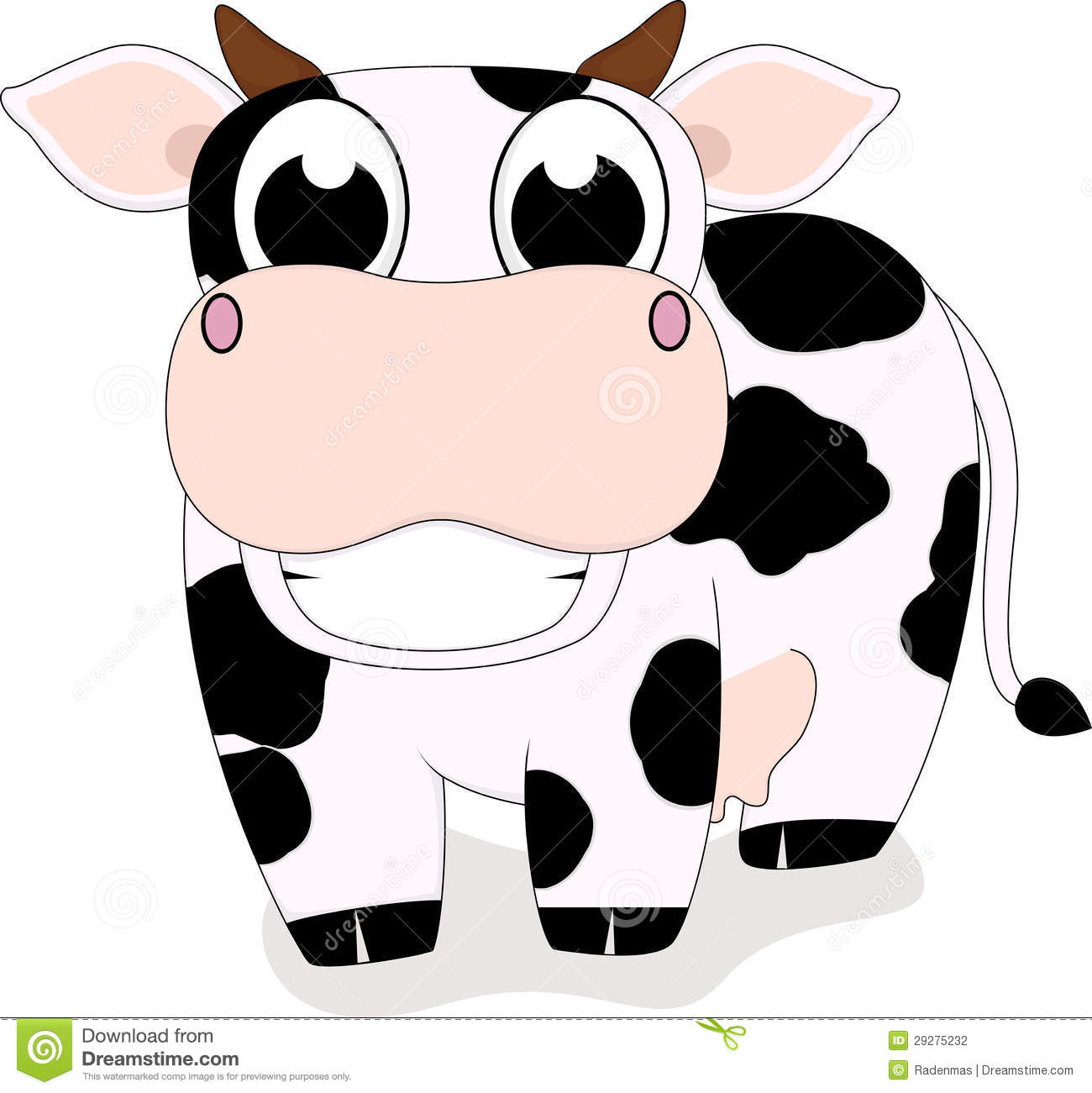 Cute Cow Smile Stock Photography - Image: 29275232