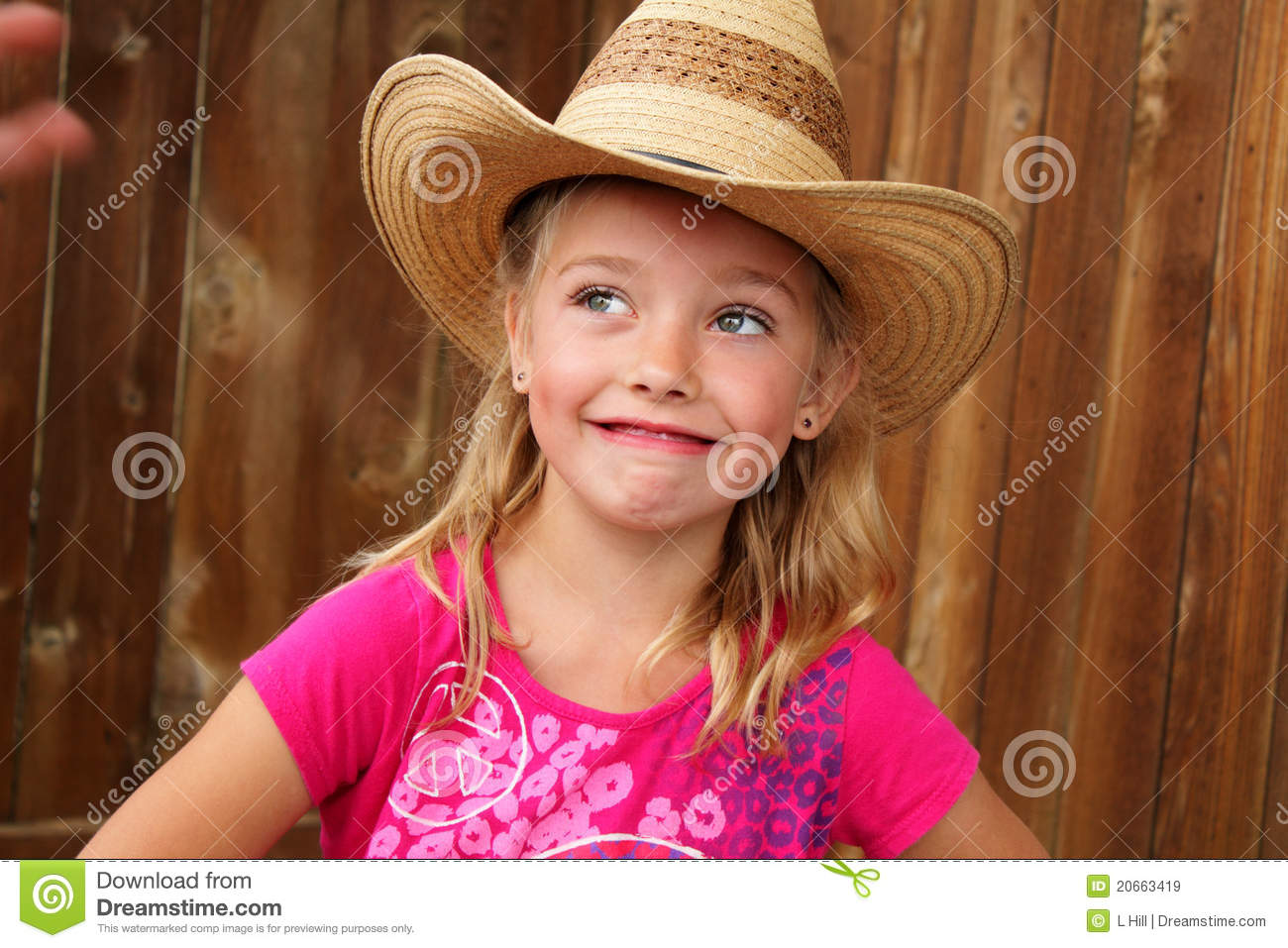 6e0820ae9 Cute Cowgirl In A Straw Hat. Stock Image - Image of cowboy, close ...