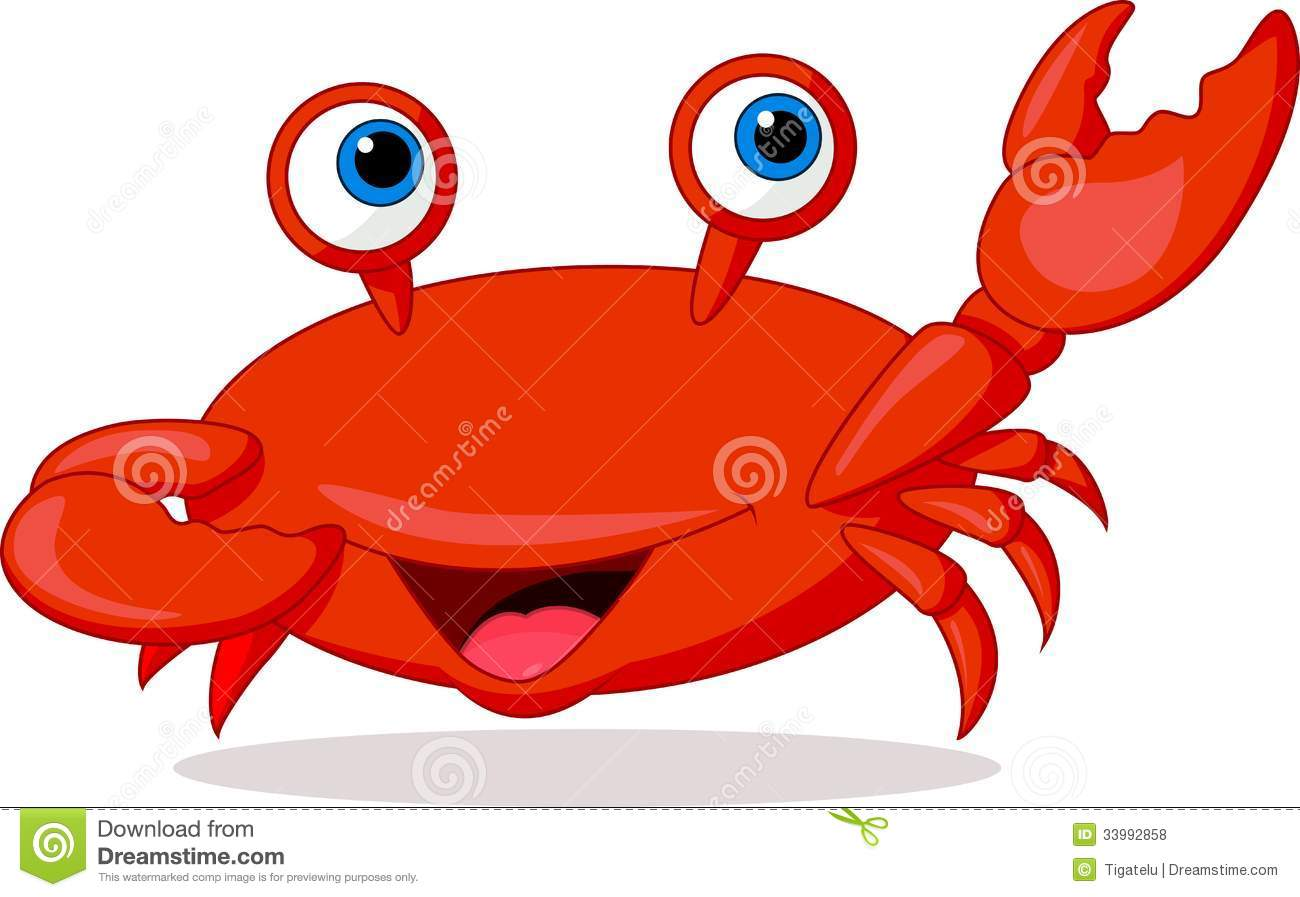 Cute Crab Cartoon Royalty Free Stock Photos - Image: 33992858
