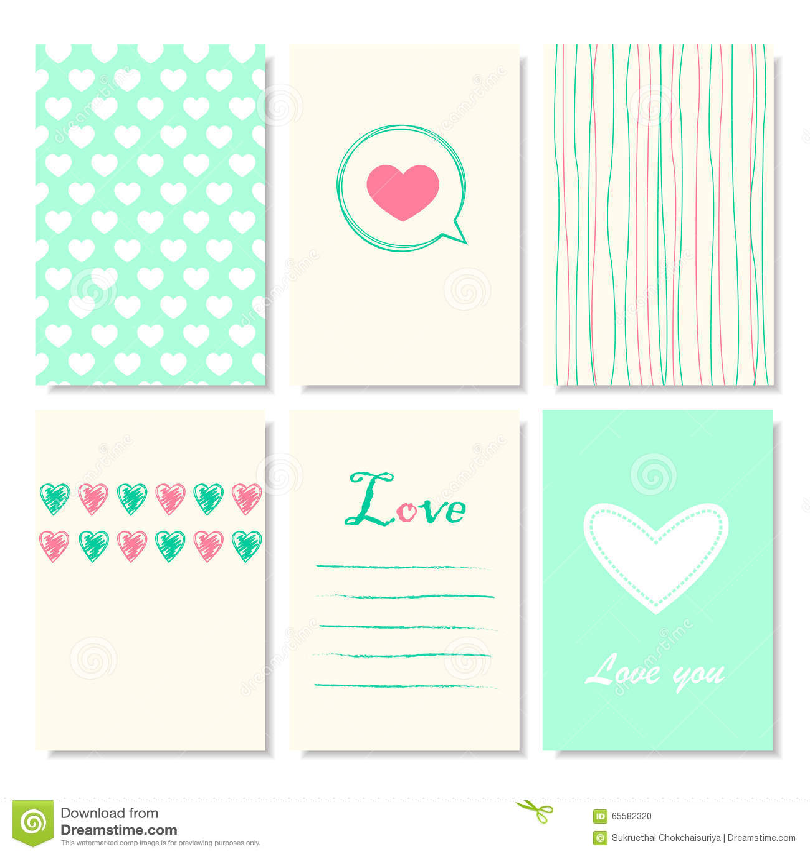 cute creative cards templates stock illustration illustration of