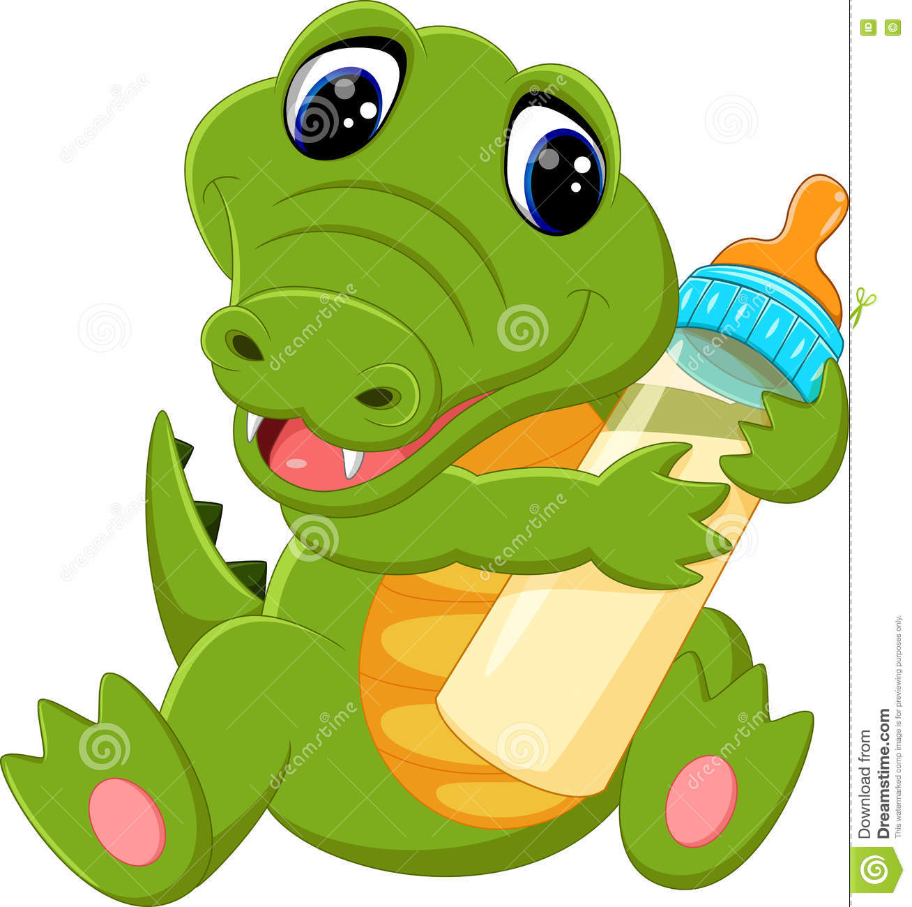 Cute crocodile cartoon stock vector. Illustration of comic ...