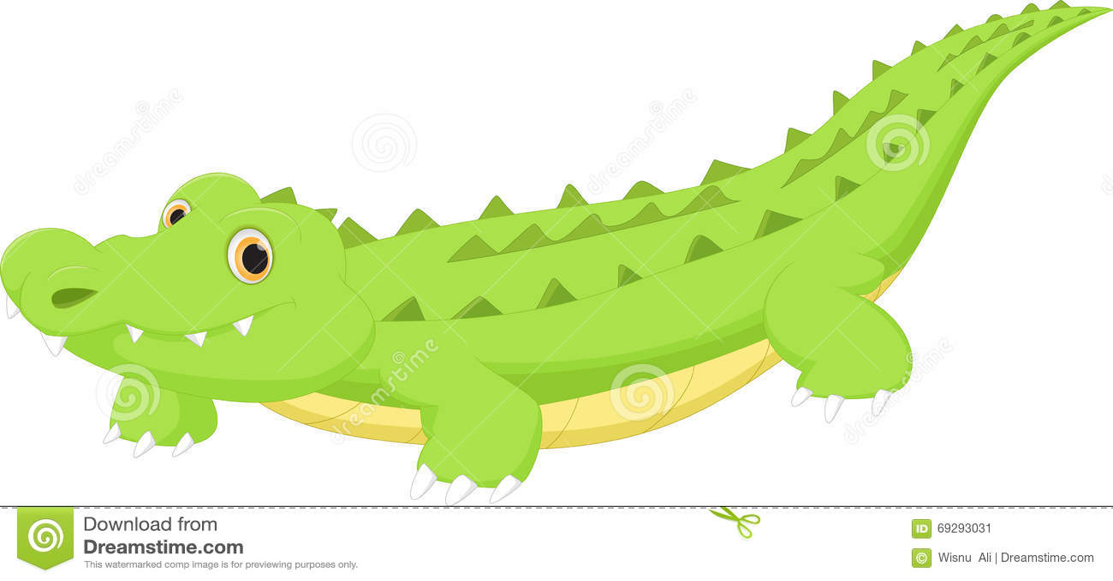 Cute crocodile cartoon stock vector. Illustration of ...