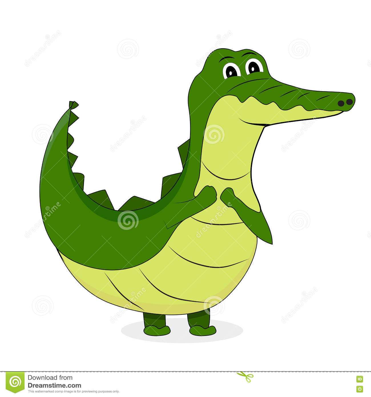 Cute crocodile character stock vector. Illustration of ...