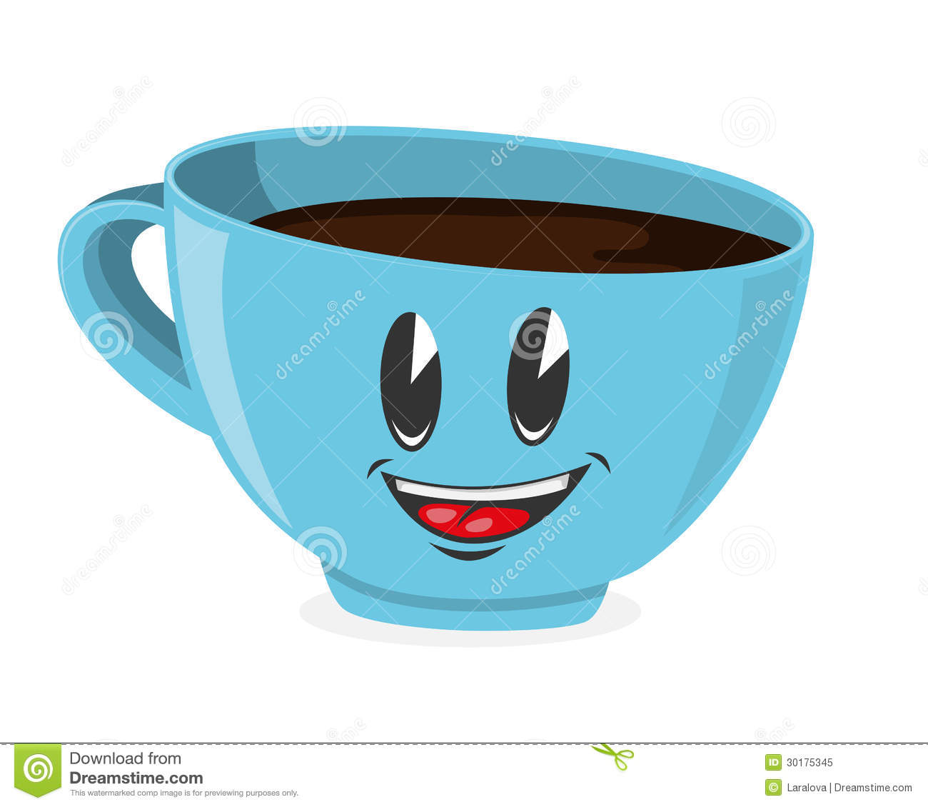 Cute Cup Of Coffee Royalty Free Stock Photo Image 30175345