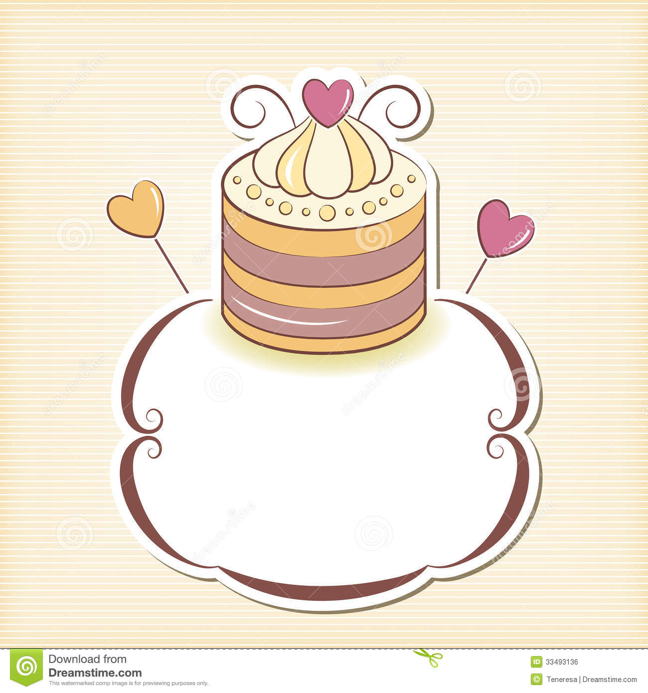 Cute Cupcake Design Frame Stock Vector Image Of Graphic